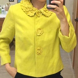 Boden US 8 M yellow mustard jacket bolero cardigan